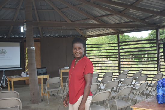 Ninotte in her education center