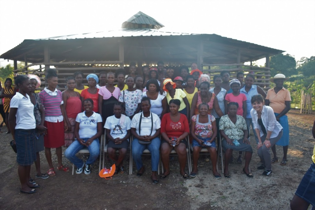Community members at the education center