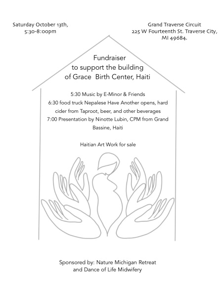 GCBC Fundraiser flyer. Haiti. Ninotte Lubin. Grace Community Birth Center